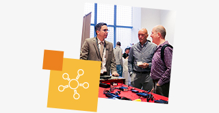 360º networking with colleagues, peers and partners from your industry
